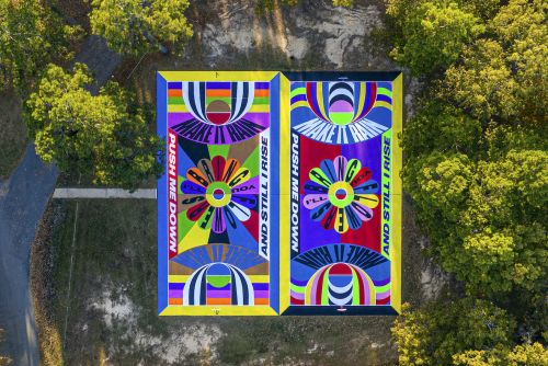 Colorful Street Art on Basketball Court