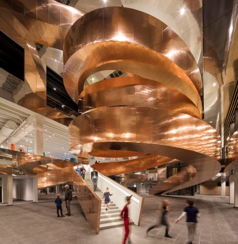 A Twisting Copper Stair