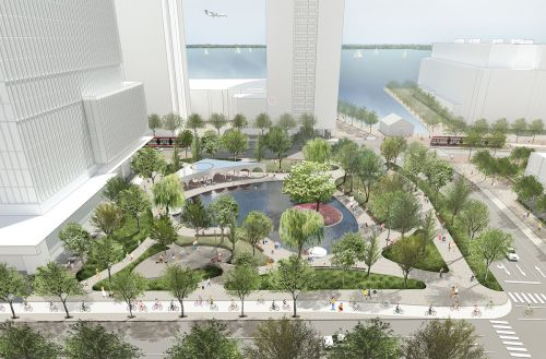 A Love Park in Toronto Waterfront