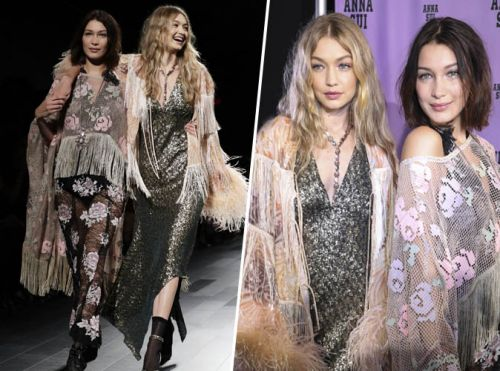 Fashion Week de New York:  Gigi et Bella Hadid défilent ensemble pour Anna Sui !
