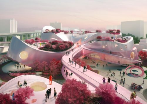 Pink-Coloured Building Design for Taoyuan's Museum of Art