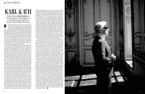 Karl Lagerfeld  GQ Germany