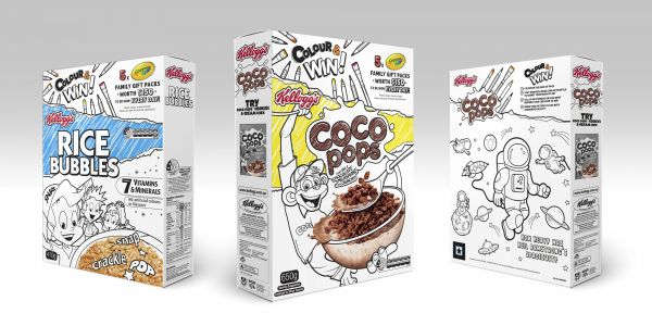 Kellogg's New Packaging to Color