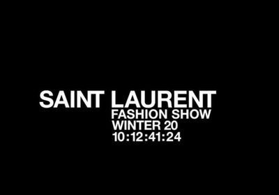 Fashion Week:  suivez en direct le défilé Saint Laurent