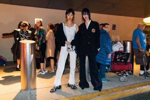 See what the models were wearing off-duty after LV's cruise show yesterday