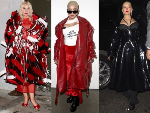 PHOTOS. Tous les looks de Christina Aguilera à la Fashion Week de New York