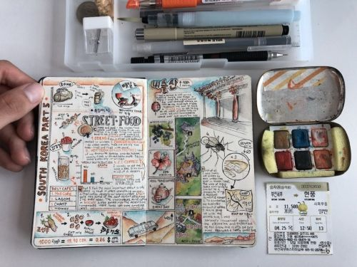Incredible Illustrated Travelling Journals