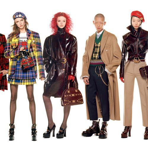 Versace's panoramic 54 model campaign is peak multi-model casting