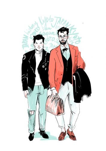 Delightful Illustrations of Fashionable Couples