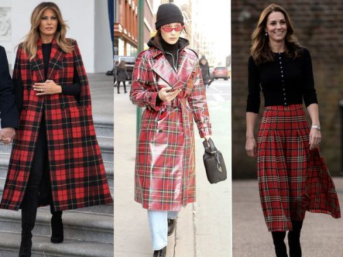 PHOTOS. Kate Middleton, Melania Trump, Bella Hadid. toutes accro au motif tartan