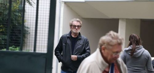 PHOTOS EXCLU. Eddy Mitchell rend visite à Johnny Hallyday