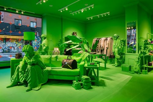 Neon Green Louis Vuitton In New York City