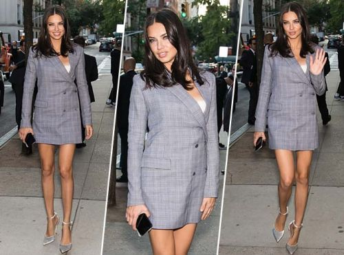 Adriana Lima:  ultra chic pour la Fashion Week de New York