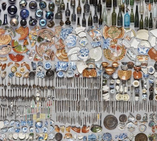 A Collection of Objects Extracted from the Bottom of a River