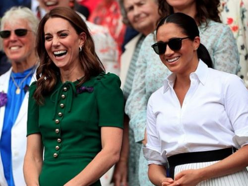 PHOTOS. Kate Middleton et Meghan Markle complices dans les tribunes de Wimbledon