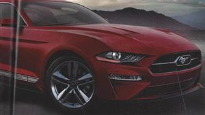 Mustang facelift: le catalogue en fuite