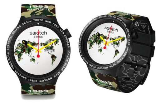 Swatch Group et BAPE, une belle collaboration