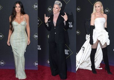 People's Choice Awards:  Gwen Stefani, Pink, Kim Kardashian et Zendaya sur le red carpet