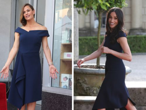 PHOTOS. Jennifer Garner porte la même robe que Meghan Markle pendant l'inauguration de son étoile à Hollywood