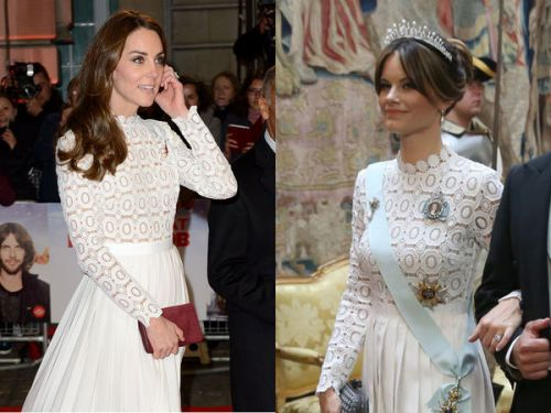 PHOTOS. Quand la princesse Sofia de Suède recycle une robe de Kate Middleton